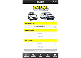 STARCAR mobile (2011) screenshot